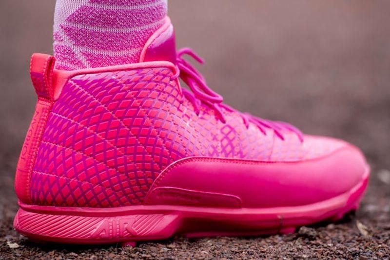 3f44f4fb6075e5 Exclusive All-Pink Cleats   Air Jordan 12 cleats