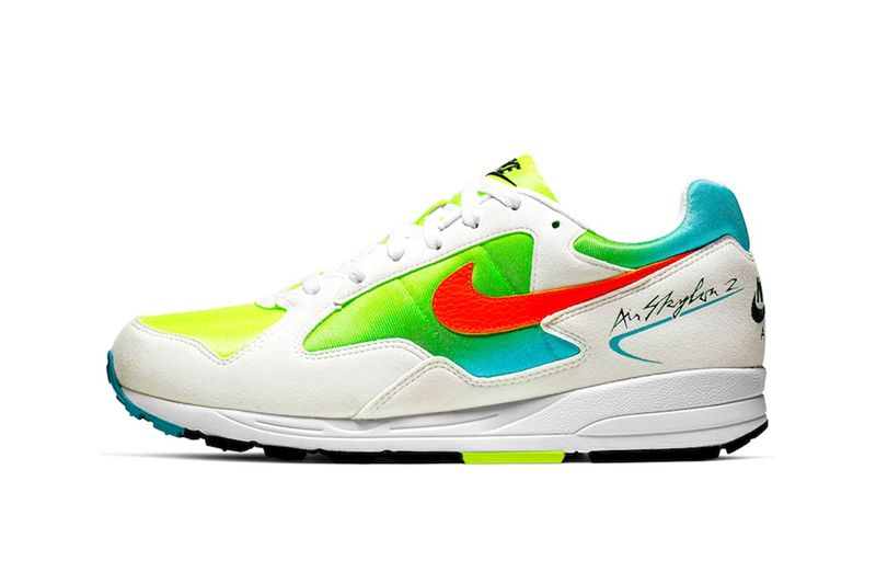 Neon-Accented Retro Sneakers