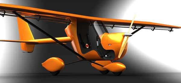 Retro-Futuristic Pedal Gliders