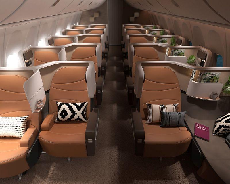 Offset Business Class Seats