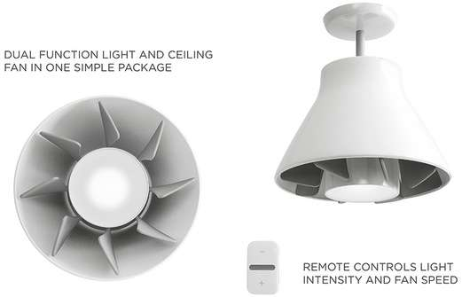 Screw in ceiling fans airlight by quirky screw in ceiling fans aloadofball Images