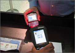 Airline Check-In Via PDA or Cell Phone