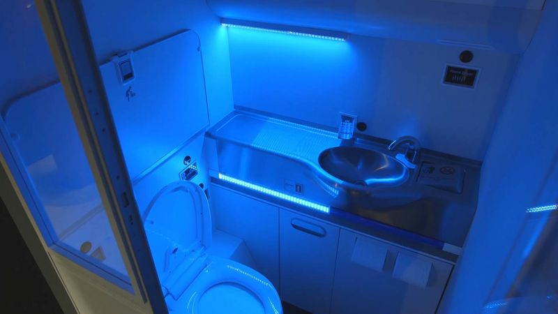 Self-Cleaning Airplane Bathrooms
