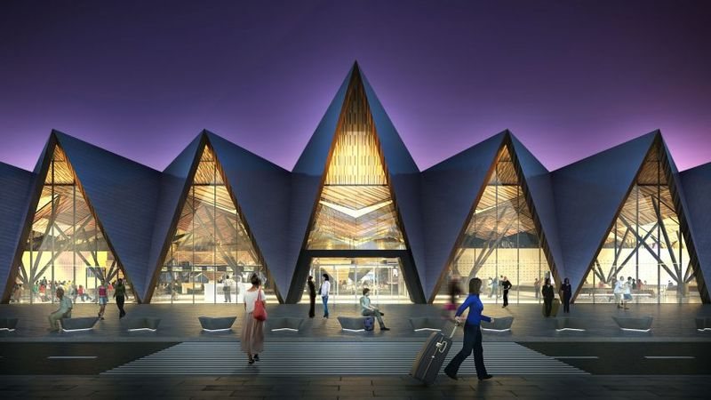 Pitched Roof Airport Designs