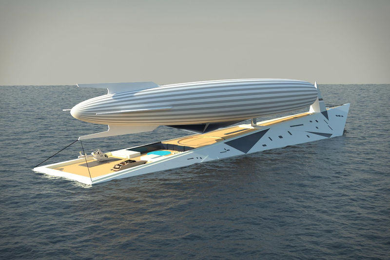 Luxury Airship-Carrying Yachts