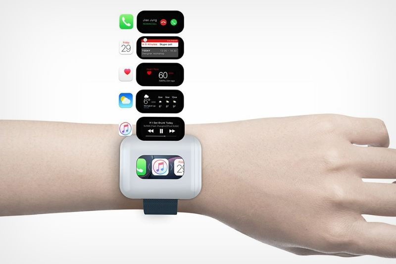Earphone Case-Equipped Smartwatches