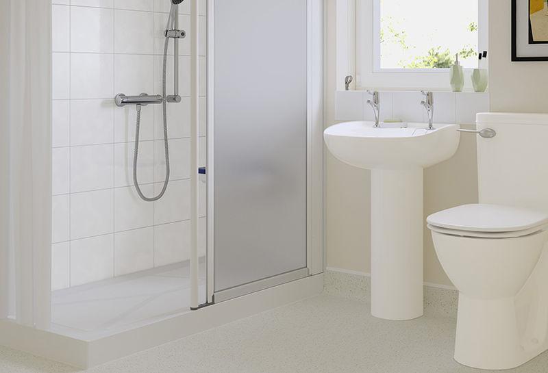 Glare-Reduced Bathroom Tiling