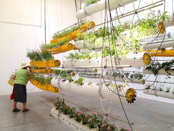 Suspended Tubular Planters