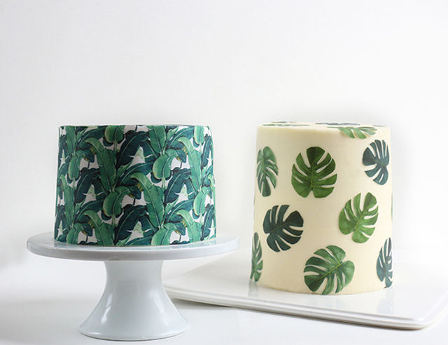 Tropical Wallpaper Cakes