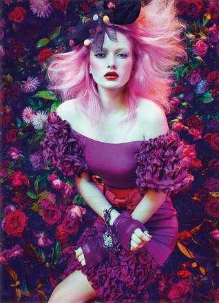 Gothic Floral Fashion