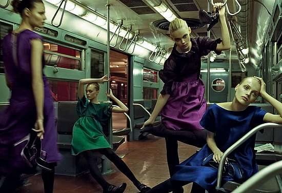 Subway Cart Fashion Shoots