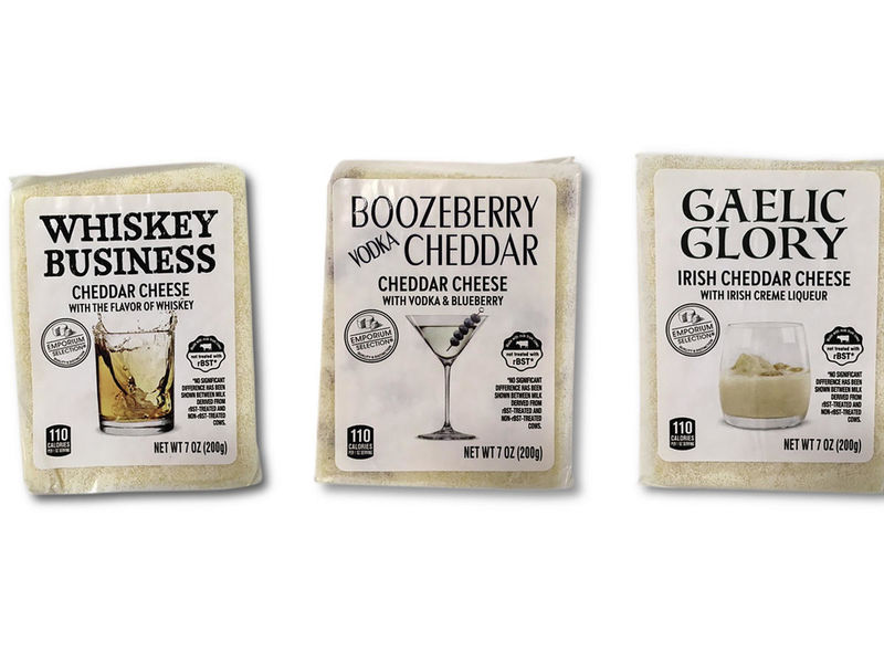 Alcohol-Flavored Cheeses