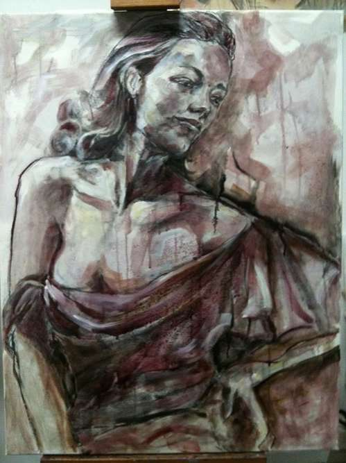 Alcohol induced paintings elisabetta rogai for Painting while drinking wine