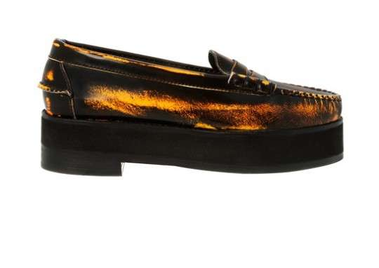 Stained Loafer Platforms