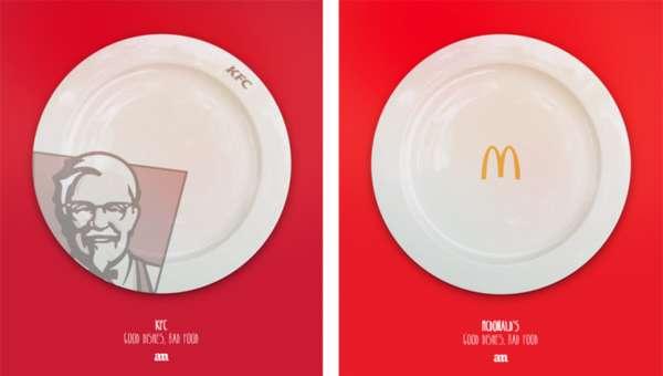 Porcelain Fast Food Plates