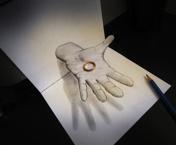 Trippy 3D Pencil Drawings