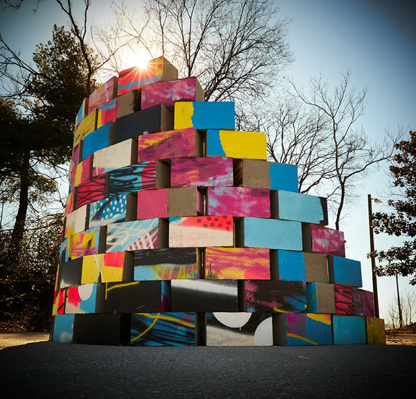 Cinder Block Street Art : Alex Brewer