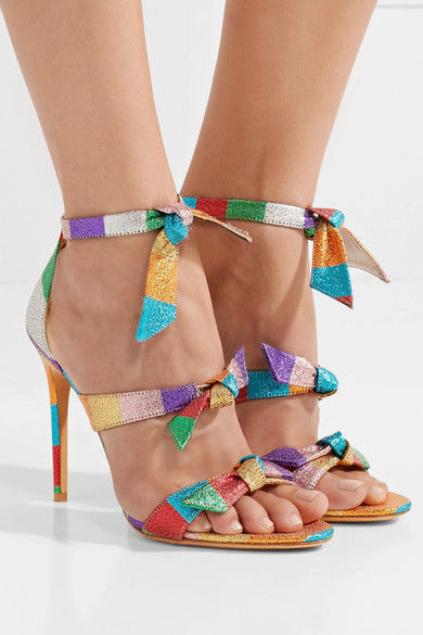 Colorful Bow-Embellished Heels