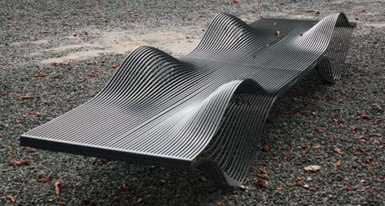 Graphic Wave Benches