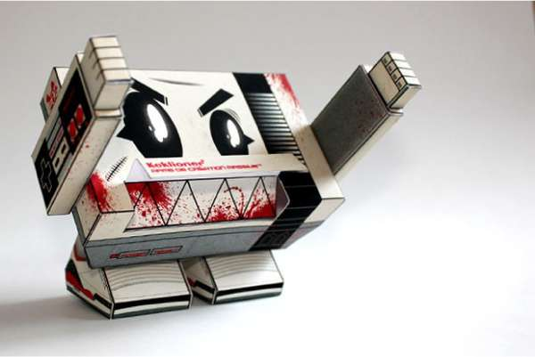 Retro Console Papercrafts