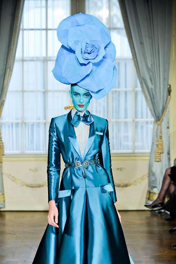 Rainbow Blossom Bonnets Alexis Mabille Haute Couture