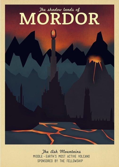 Fantasy-Themed Travel Posters
