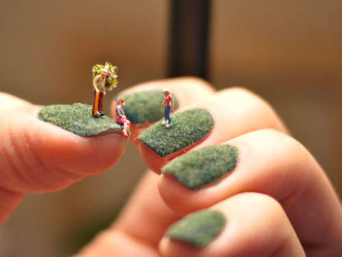 Miniature Manicure Figurines