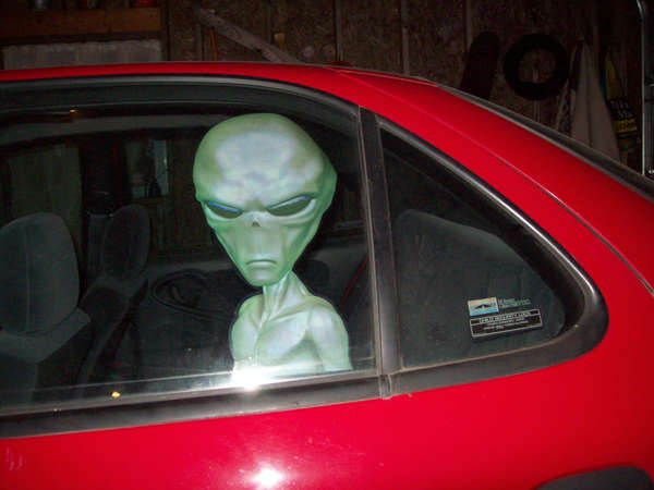 Space creature car decals