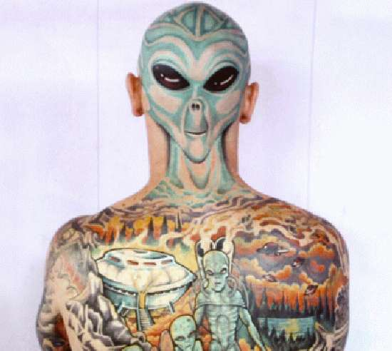 Alien ink these extraterrestrial tattoos are out of this for Strange world tattoos