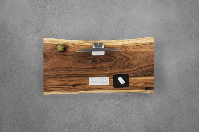 Adjustable Wooden Slab Workstations