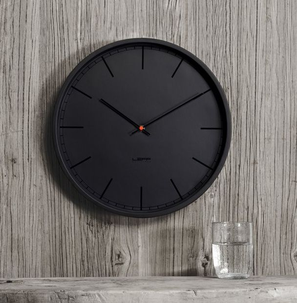Minimalist All-Black Clocks