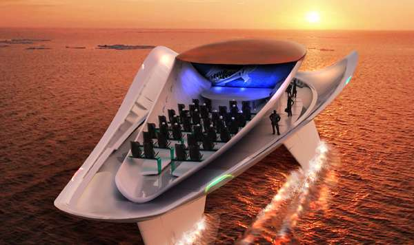 Color-Changing Concert Boats