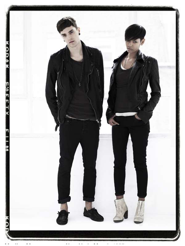 Unisex Haircuts: AllSaints S/S '09 Features Matching 'Dos