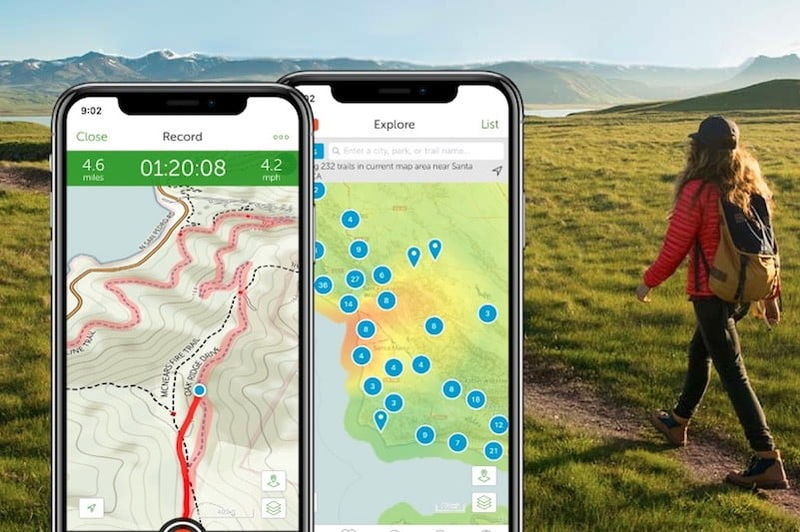 Informative Trail Map Apps AllTrails App - Trail map apps