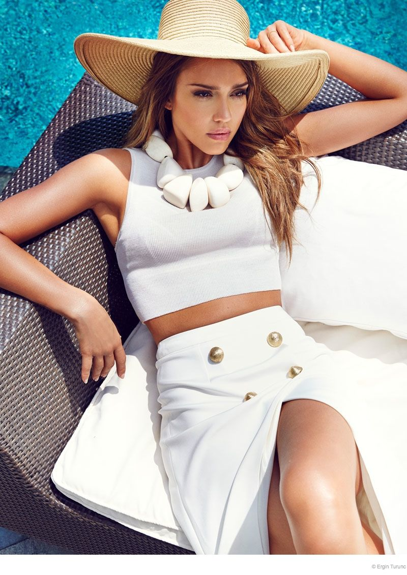 All-White Poolside Editorials