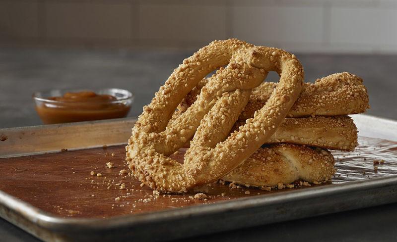 Seasonal Caramel Almond Pretzels