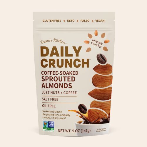 Coffee-Soaked Almond Snacks
