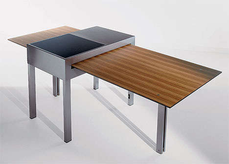 Cooktop-Integrated Tables