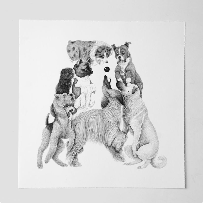 Dog-Inspired Alphabet Drawings