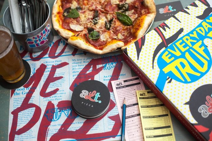 Record Album Pizzeria Branding