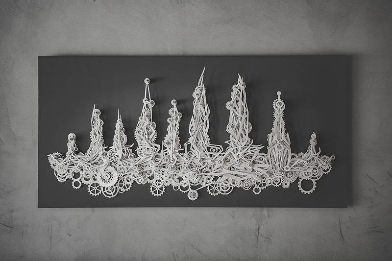 Mechanized Aluminum Artwork