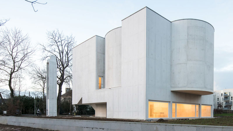 White-Concrete Church Designs