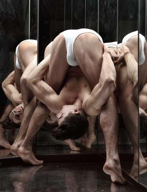 Reflective Acrobatic Art Work