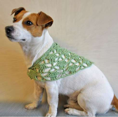 Knitting Patterns Dog Accessories : Crocheted Canine Collars : Amailo Dog Accessories