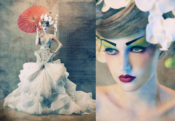 Porcelain Geisha Doll Shoots