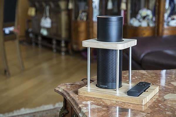 Bamboo Smart Speaker Stands