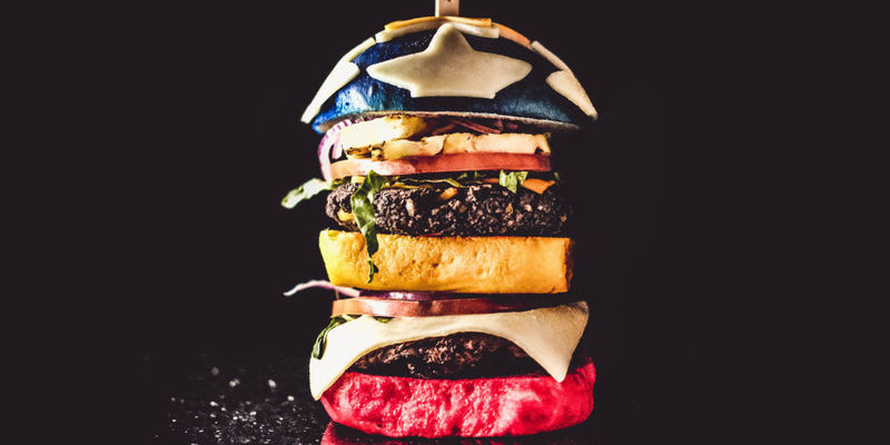 Towering Superhero-Inspired Burgers