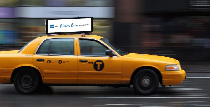 Geo Targeted Taxi Ads American Express Geo Targeted