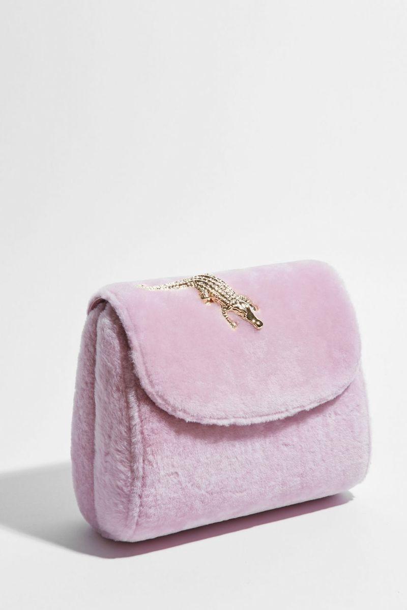 Fuzzy Millennial Pink Handbags