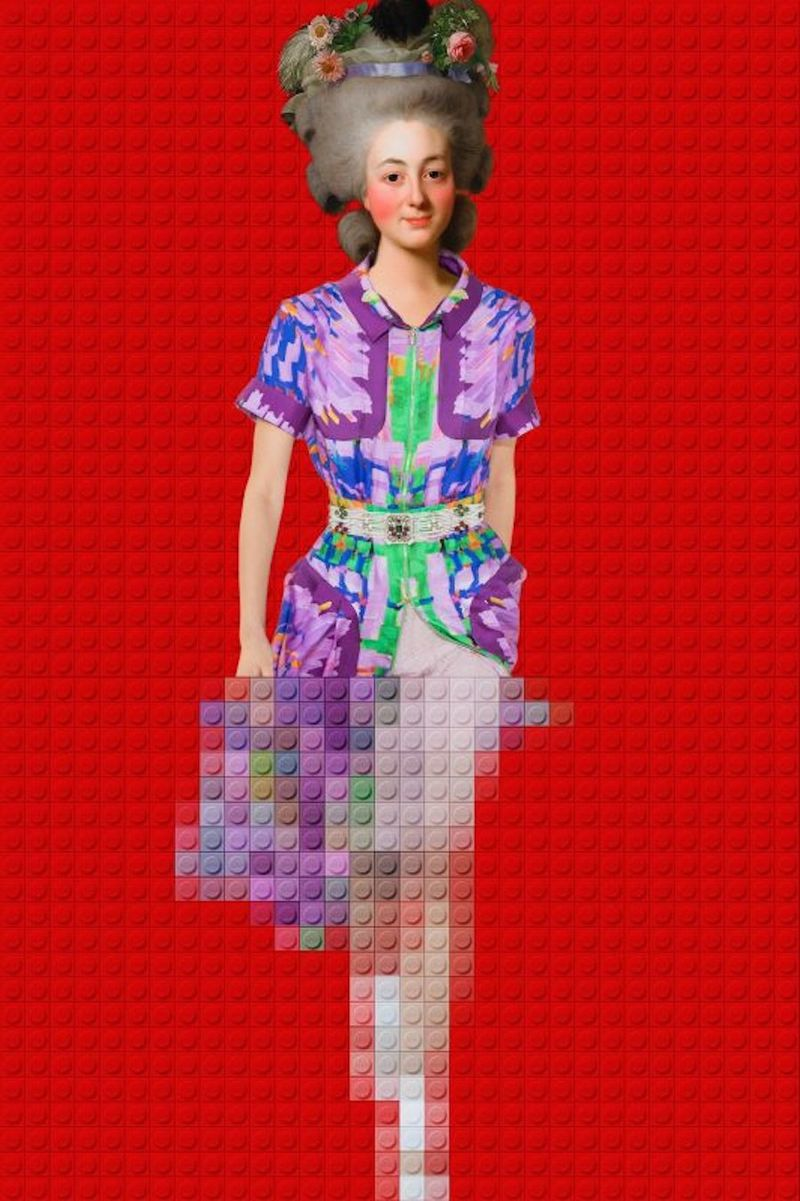 LEGO-Inspired Fashion Portraits